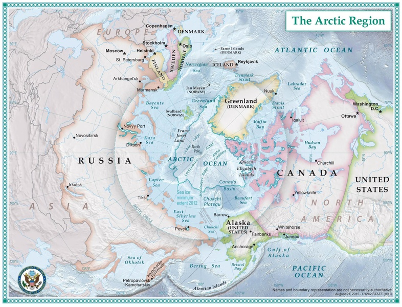 Map of the Arctic