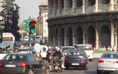 No more traffic past the Colosseum