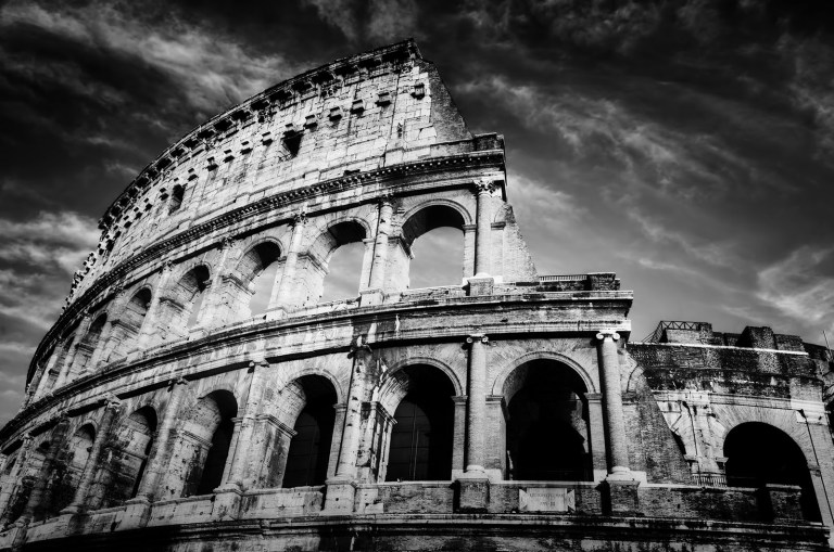 Colosseum in Rome, Italy. Amphitheatre - Rome Vacation Tips