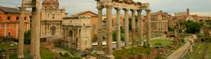 The difference between the Colosseum, the Roman Forum, and the Palatine Hill