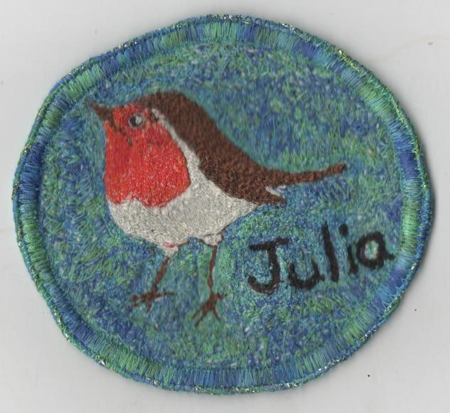 "We all made ""birdy"" name badges"