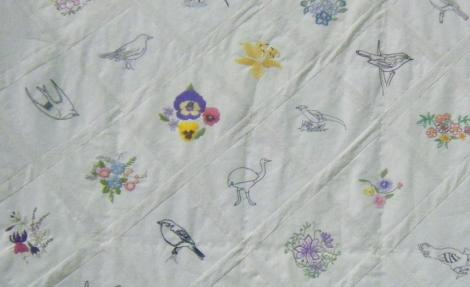 Close up of our quilt