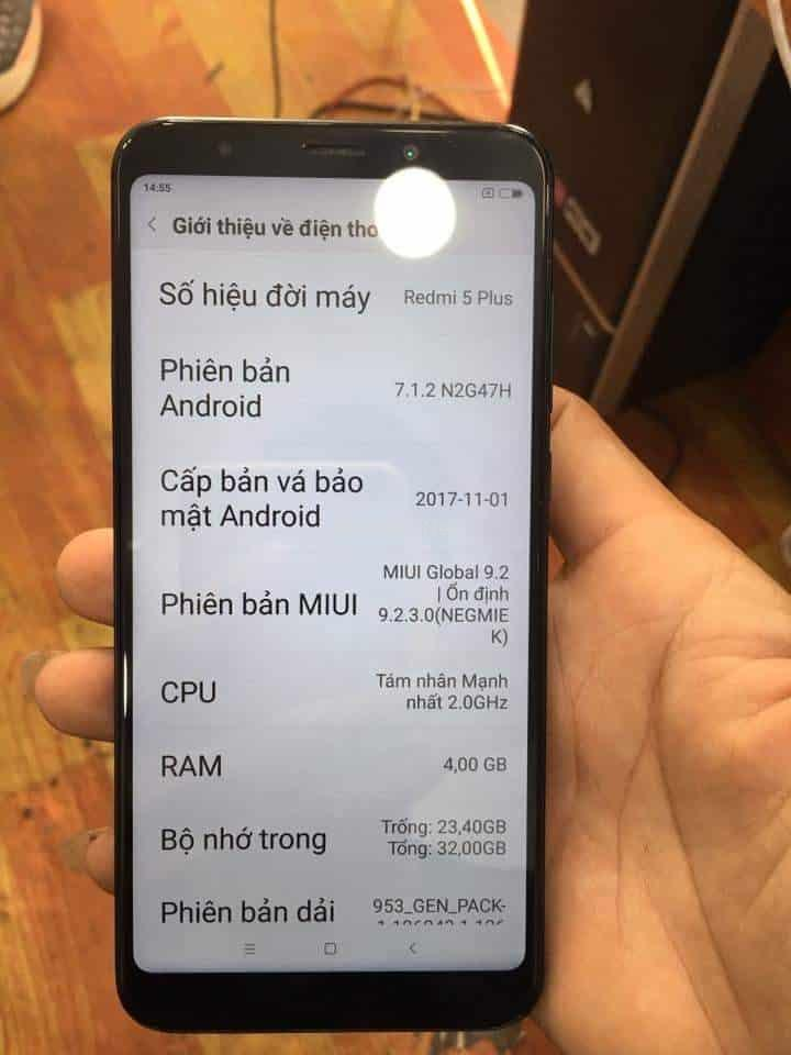 Rom Tiếng Việt Xiaomi Redmi 5 Plus (vince) không cần Unlockbootloader