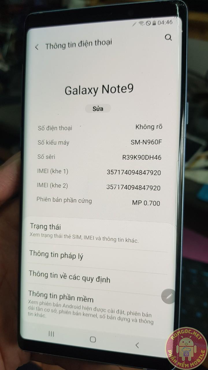 Lên 2 SIM Samsung Note 9 N960N/ S9, S9 Plus (Knox 1)