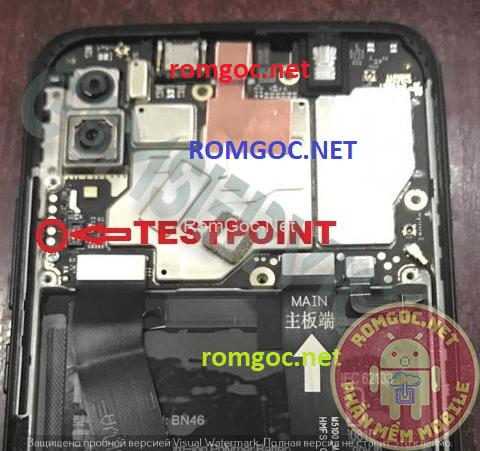 Xiaomi Redmi 7 Test pinout EDL 9008 (onc) Checkpoint Pinout