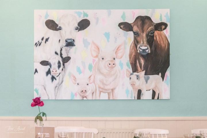 Painting Cornish Vegan Cornwall Restaurant