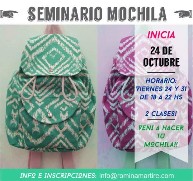seminario mochila marinera  octubre