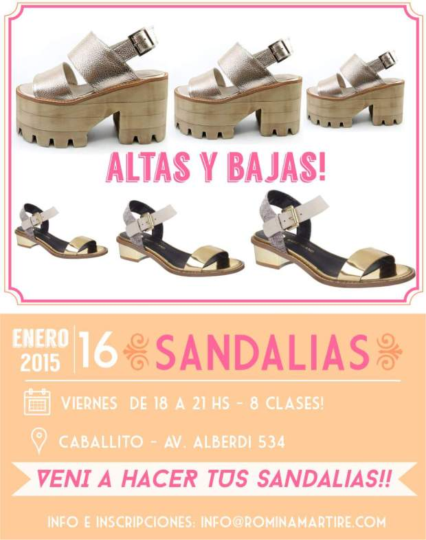 curso de verano sandalias 2015
