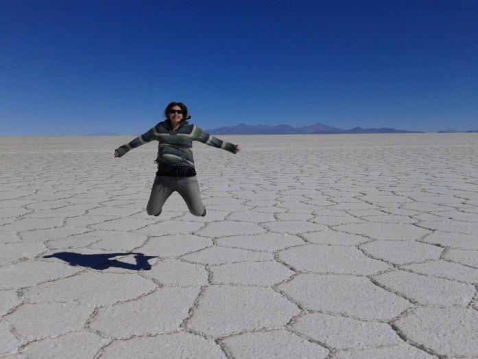@rominitaviajera en el Desierto de Sal, Salar del Uyuni, Bolivia, 2014 | rominitaviajera.com
