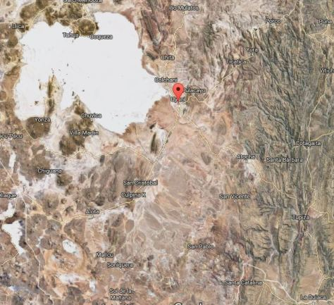 Mapa Satelital del Salar del Uyuni, Bolivia, 2014 | rominitaviajera.com
