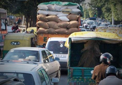 Atasco en Delhi