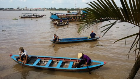 Barcas en el Delta del Mekong, Vietnam 2015