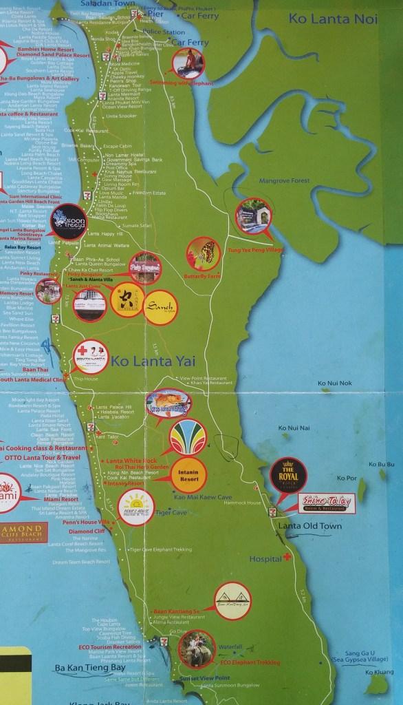 Mapa de Ko Lanta, Tailandia, 2015