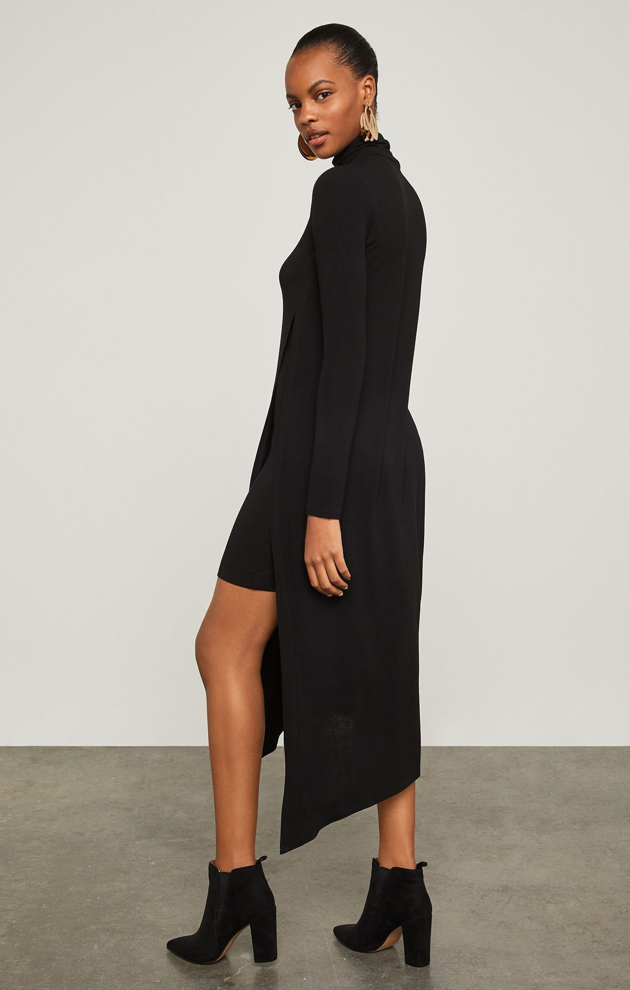 The Best Kabrina Asymmetrical Turtleneck Dress Pictures