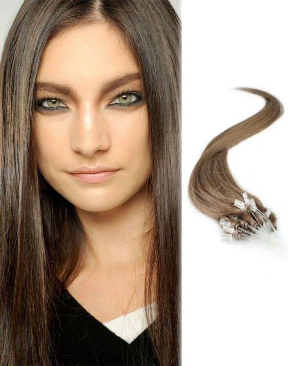 The Best Light Chestnut Brown 8 Micro Loop Human Hair Extensions Pictures
