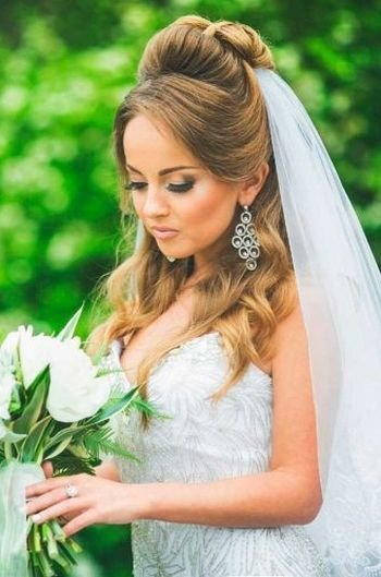 The Best 37 Half Up Half Down Wedding Hairstyles Anyone Would Love Pictures