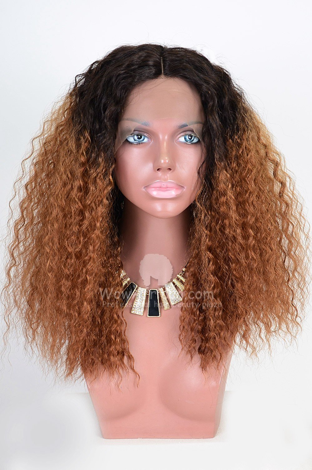 The Best Blonde Ombre Color Curly V*Rg*N Brazilian Hair Lace Wig Pictures
