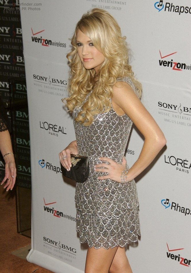 The Best Carrie Underwood S Long Layered Gypsy Hairstyle With Curls Pictures