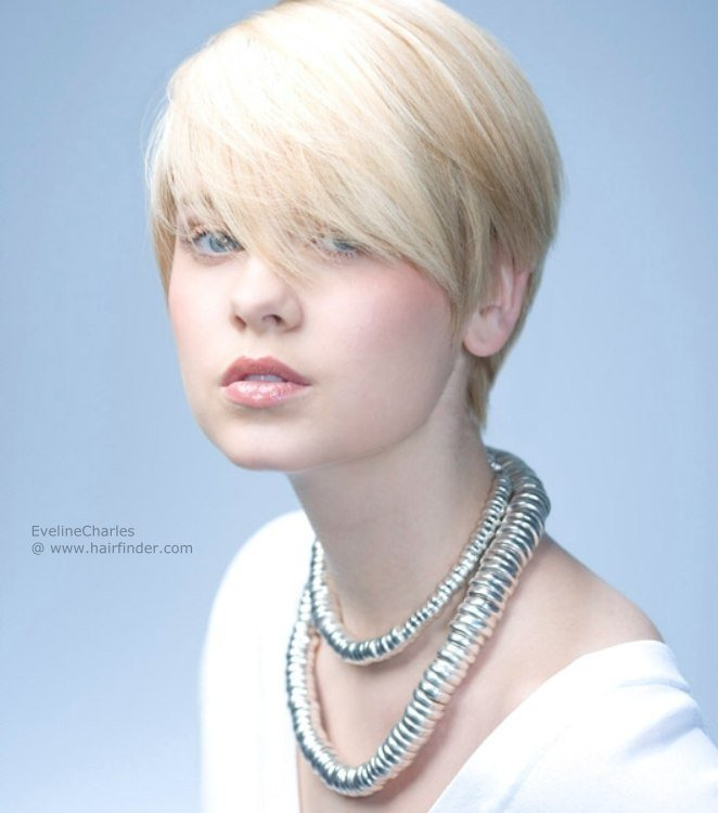 The Best Short Shorn Haircut With A Long Fringe Boyish Blonde Crop Pictures
