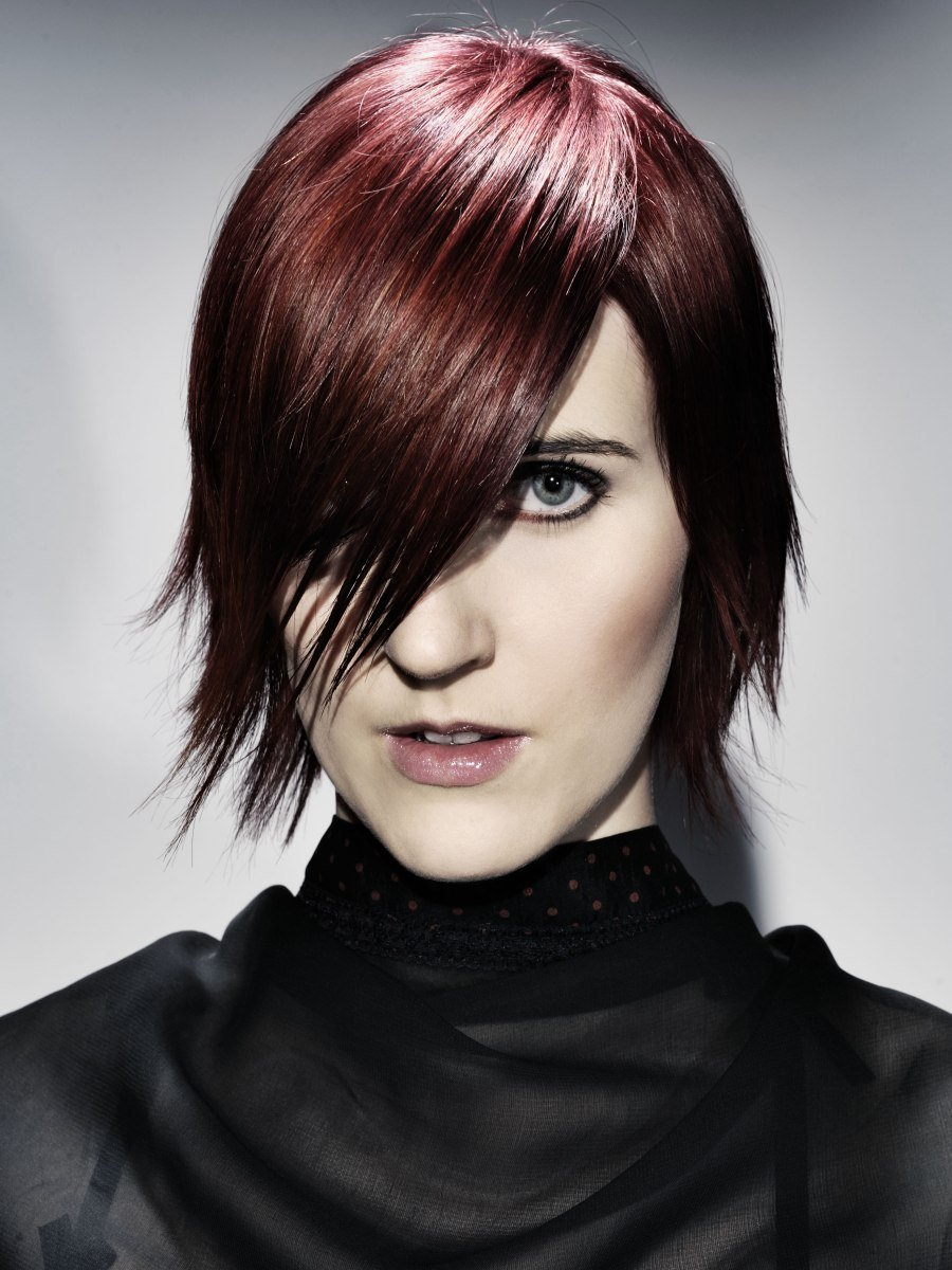 The Best Goth Inspired Short Hairstyle With A Slender Shape And Pictures