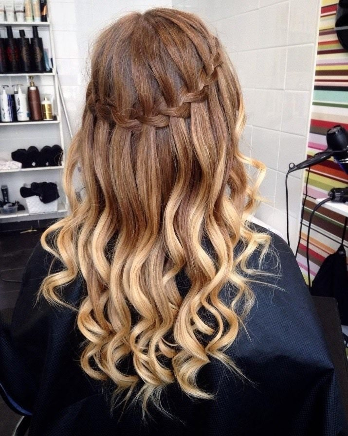 The Best Waterfall Hairstyles Hair Pictures