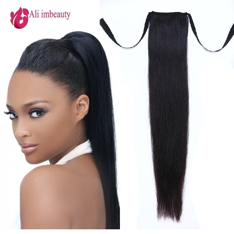 The Best Grade 6A Remy Human Hair Ponytails Straight Hair 100 Pictures