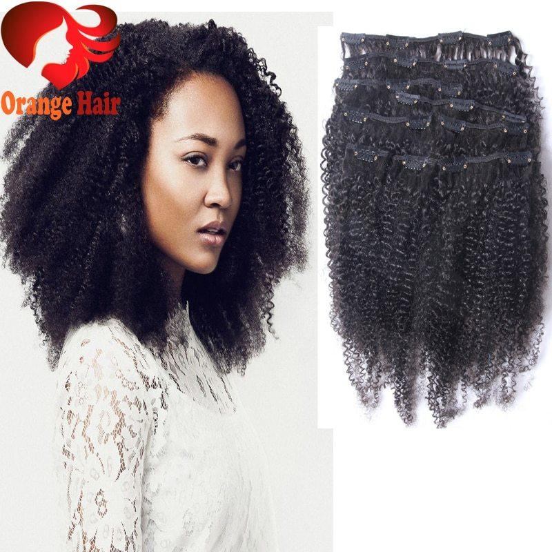 The Best K*Nky Curly Clip In Human Hair Extensions African American Pictures