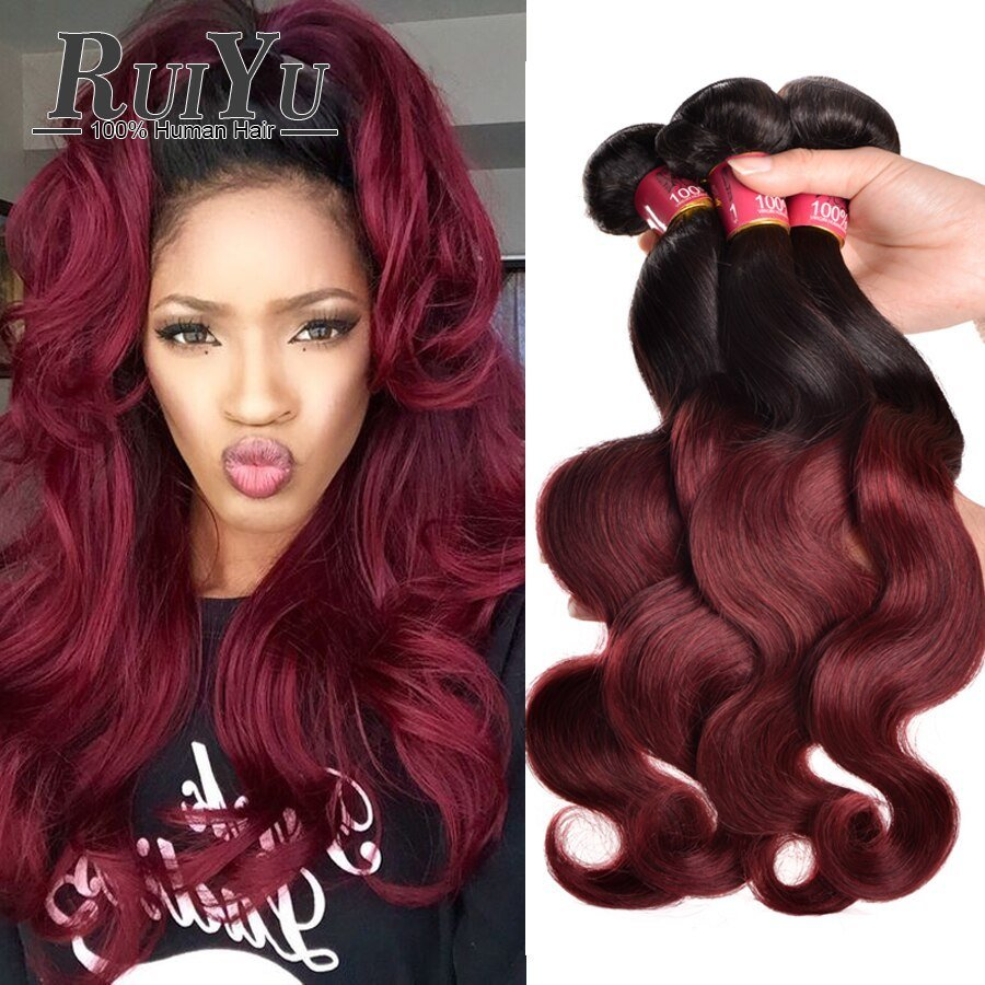 The Best Ombre Brazilian Hair Bundles 7A Brazilian V*Rg*N Hair Body Pictures
