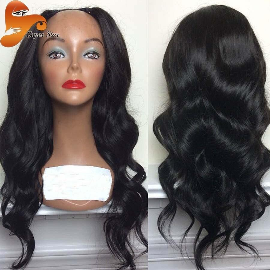 The Best Hot Selling Wet Wavy U Part Wig Brazilian V*Rg*N Hair 100 Pictures