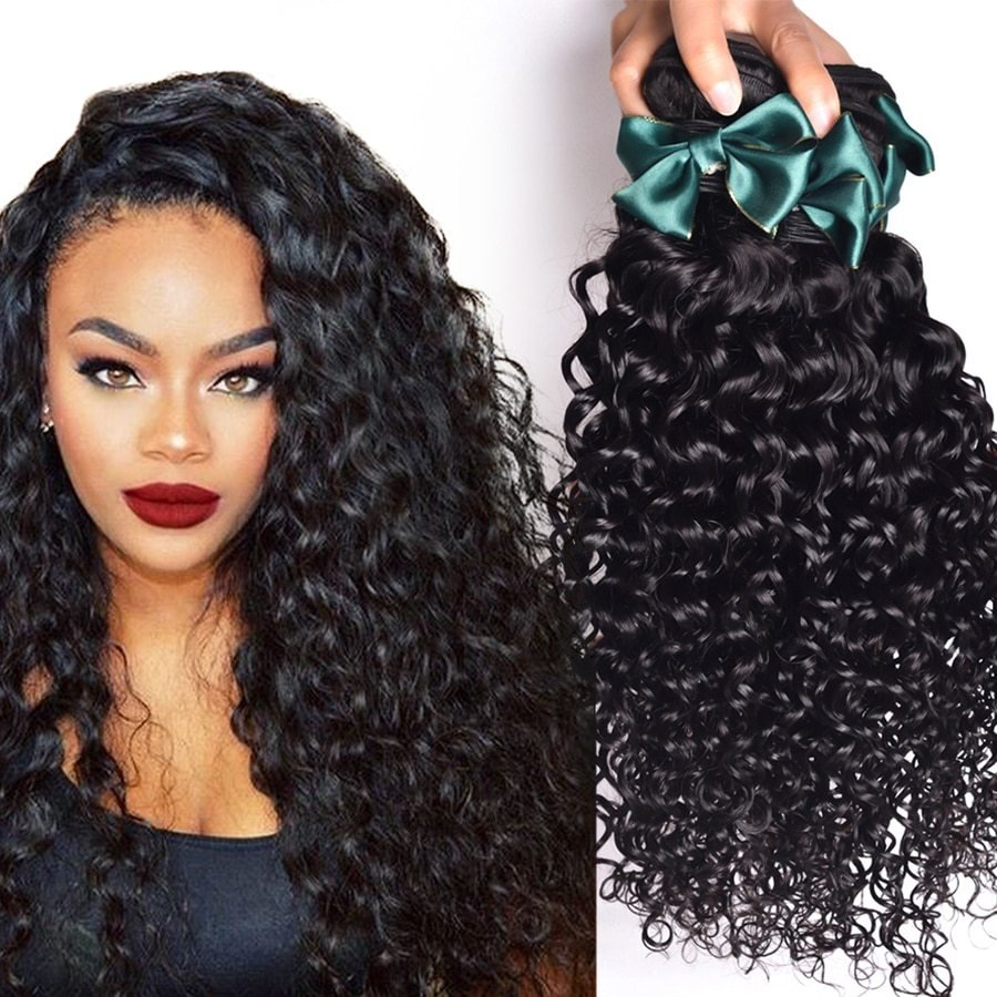 The Best Brazilian V*Rg*N Hair Water Wave 4 Bundles Brazilian Curly Pictures