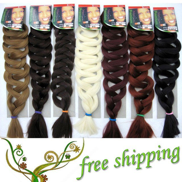 The Best 1Pc Xpression Braiding Hair Premium Xpression Ultra Braid Hair 82Inch 165G 15Colors Synthetic Pictures