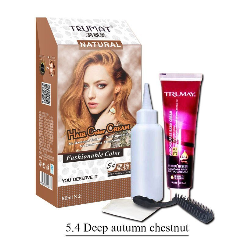 The Best Fashion Chestnut Brown Color Natural Permanent Hair Dye Pictures