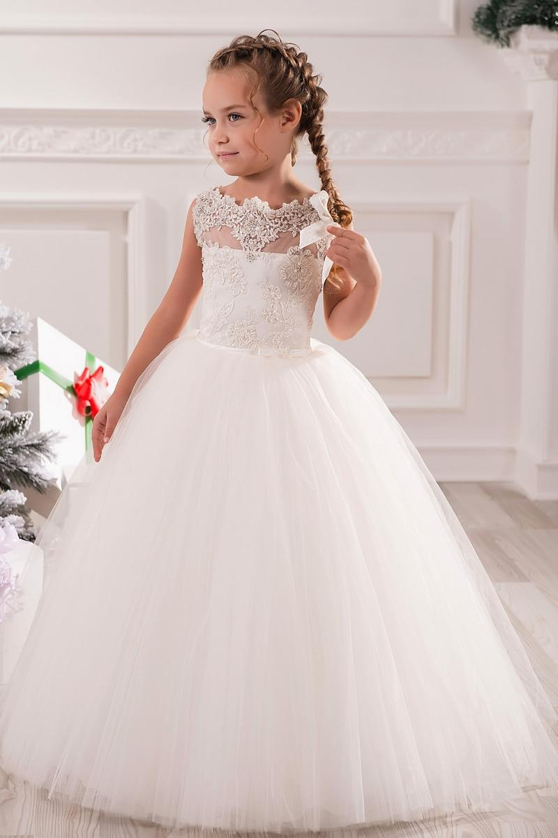 The Best White Ivory First Communion Dresses Cute Little Girls Pictures
