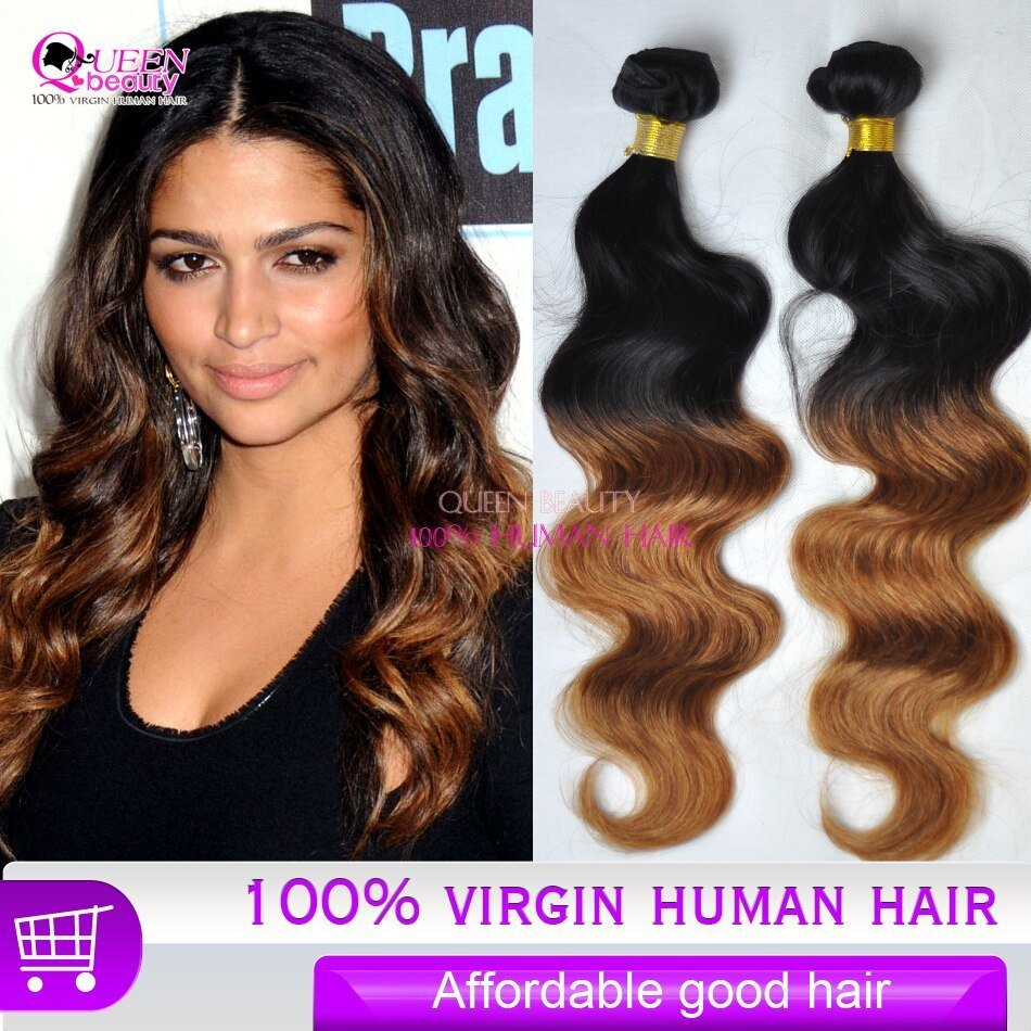 The Best Affordable Cheap Ombre Human Hair Extension 3Pcs Lot Pictures