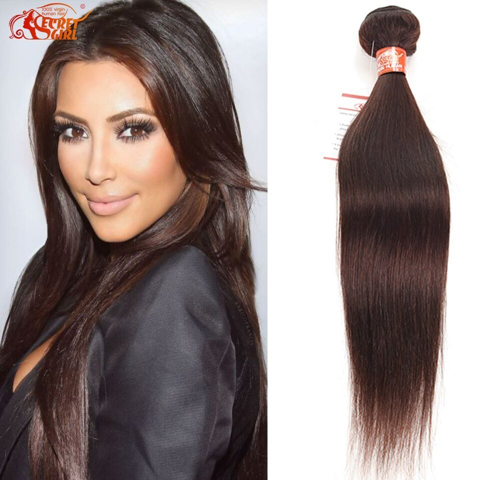 The Best Mink Brazilian Straight Hair Color 4 Human Hair 1 Bundle Pictures