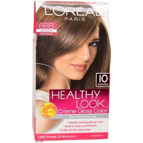 The Best Shop L Oreal Healthy Look Creme Gloss Color 6Bb Light Beige Brown Hair Color Free Shipping Pictures