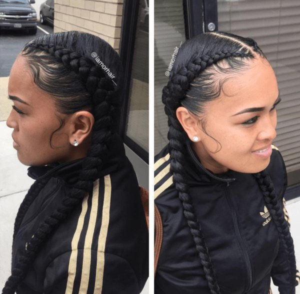 The Best Braids And Laid Edges By Iamorhair Black Hair Information Pictures