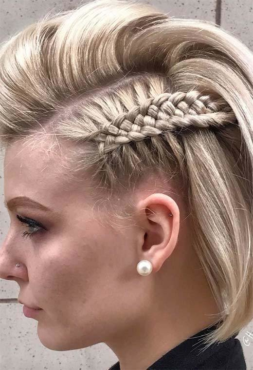The Best 51 Cute Braids For Short Hair Short Braided Hairstyles Pictures