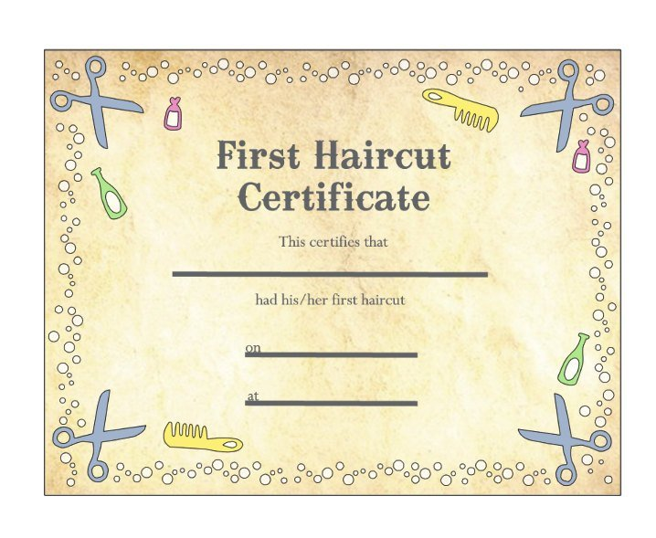 The Best Baby S First Haircut Certificate Keepsake Laminated Pictures