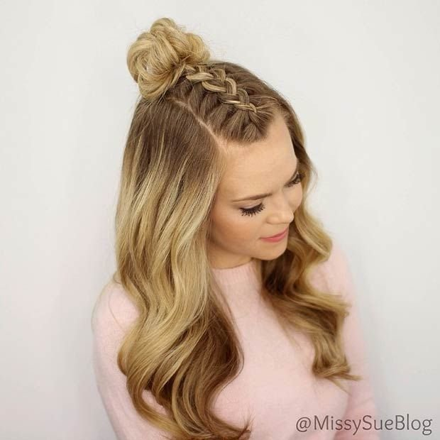 The Best Best 25 Half Up Bun Ideas On Pinterest Half Bun Half Down Top Knot And Going Out Hairstyles Pictures