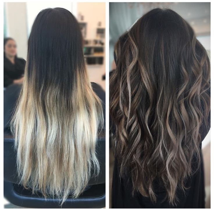The Best Hair Transformation Dark To Light Brown Balayage Ombre Pictures