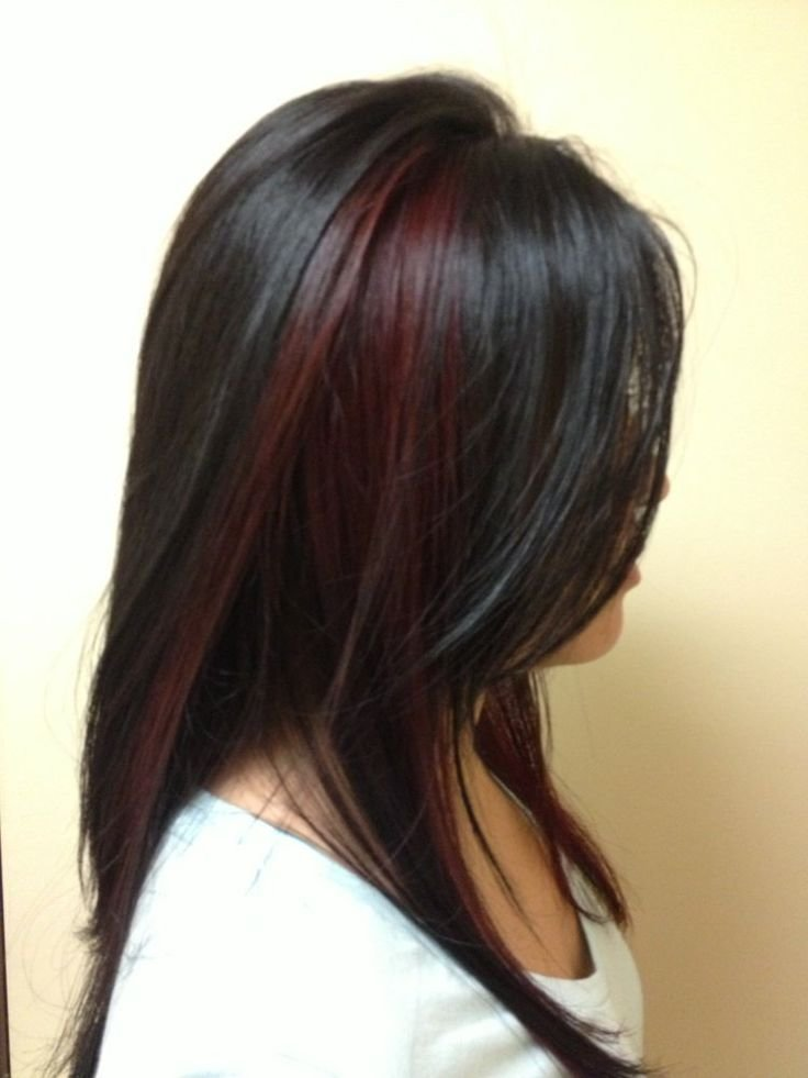 The Best Top 25 Best Black Hair Red Highlights Ideas On Pinterest Pictures