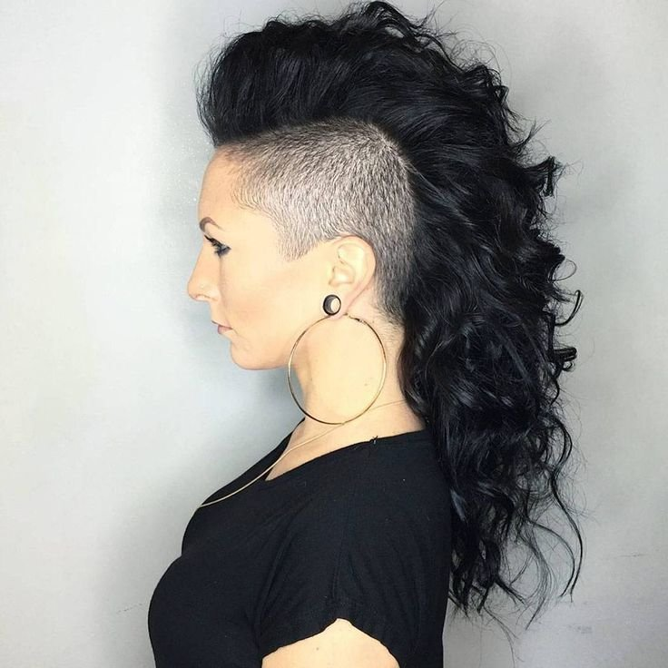 The Best Best 25 Curly Mohawk Hairstyles Ideas On Pinterest Mohawk Styles Mohawk With Braids And Pictures