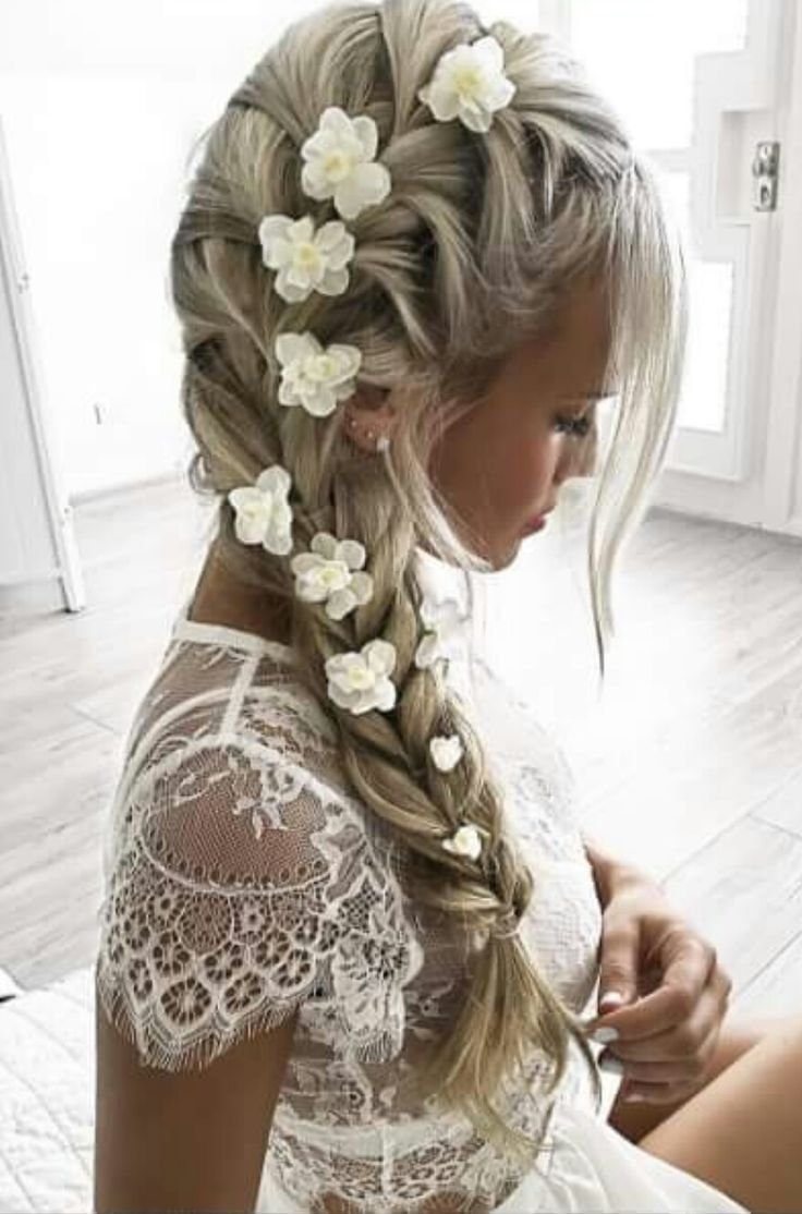 The Best Side French Braid With Flowers Ringing Of The Bells Pictures