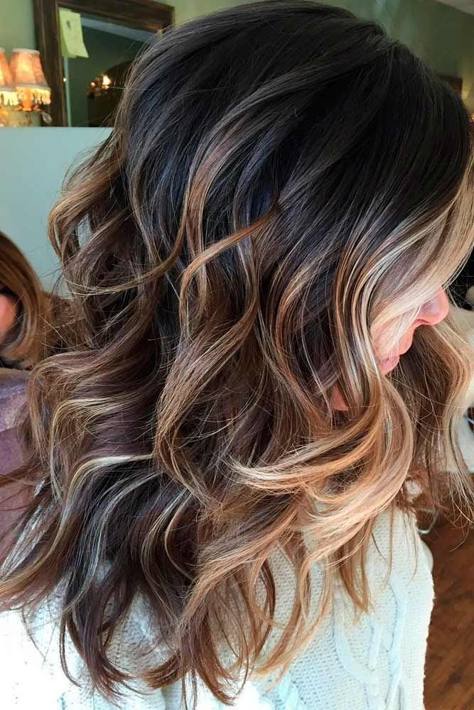 The Best 55 Highlighted Hair For Brunettes Hair Balayage Hair Pictures