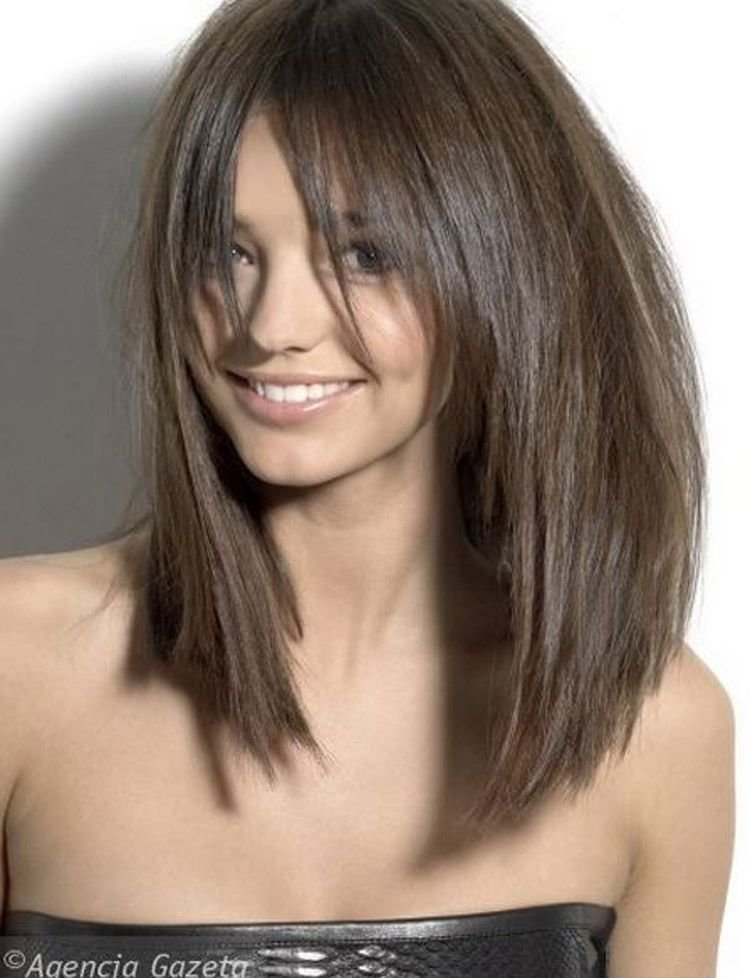 The Best Long Razor Cut Brunette Bob With Bangs Hair Hair Hair Pictures