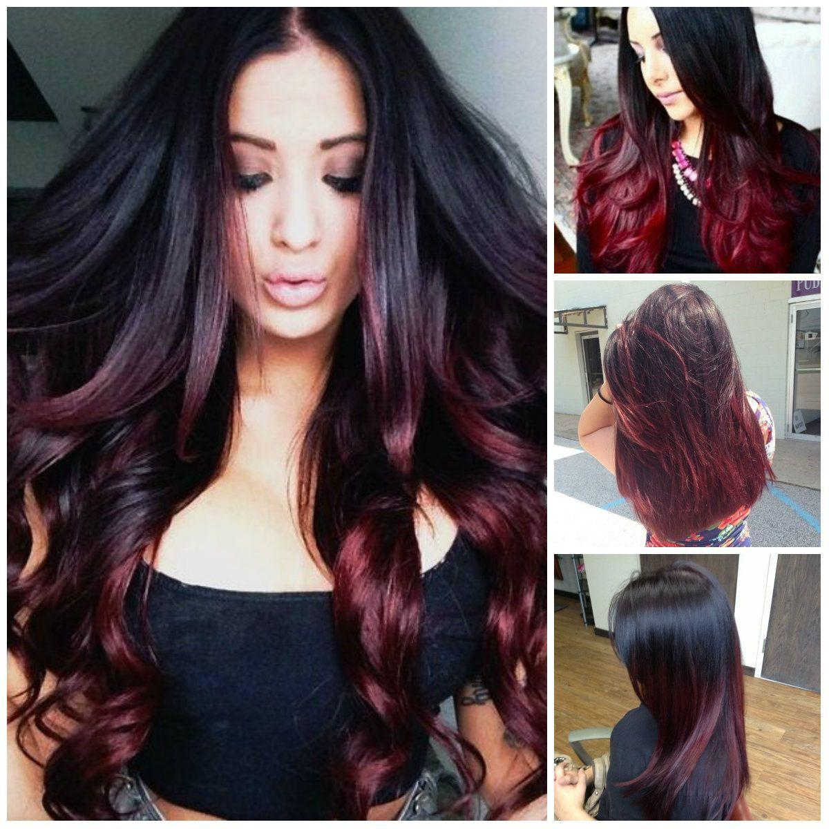 The Best Black And Burgundy Ombre Hair Colors Hair Color Trends Pictures