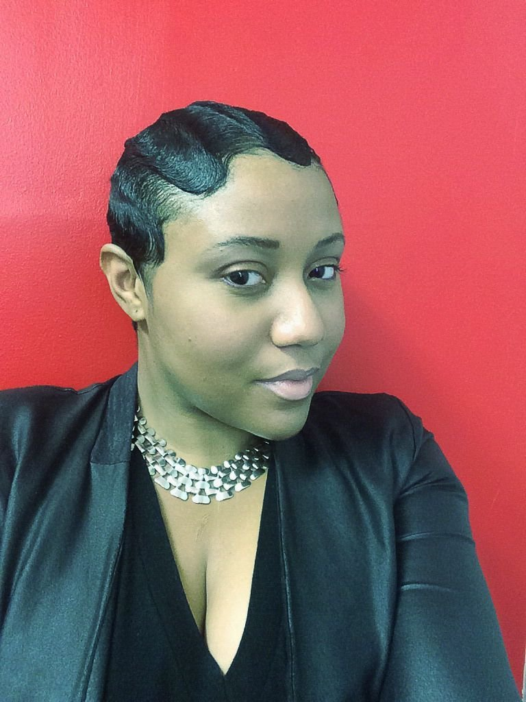 The Best Fingerwaves On Short Relaxed Hair Setting Lotion Is Used Pictures