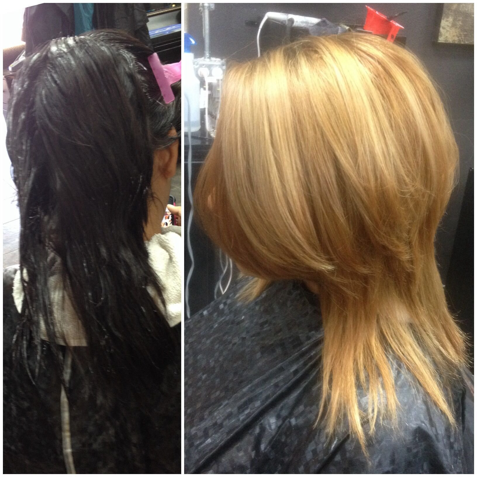The Best Dark To Light Hair Blonde Lightened From A Black Box Dye Pictures