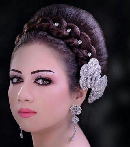 The Best Arabic Bridal Hairstyles Arabic Bridal Hair And Makeup Pictures